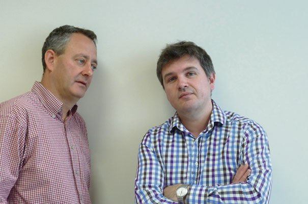 Greg Berman (pictured left) and Tony Bedford (right) have been charged with turning Kinneir Dufort's new enterprise in Cambridge into a world leader..jpg