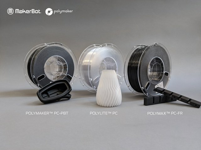 Polymaker qualifies new industrial polycarbonate materials for MakerBot LABS Experimental Extruder