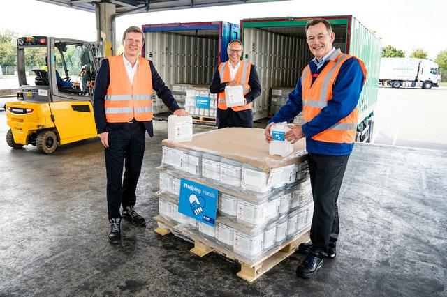 BASF donates 40,000 litres of hand sanitiser to UNHCR
