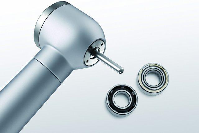 Miniature precision bearings for dental drills